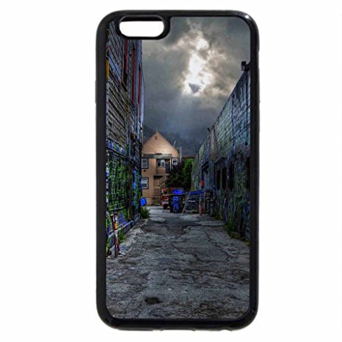 iPhone 6S / iPhone 6 Case (Black) graffiti all over back alley hdr