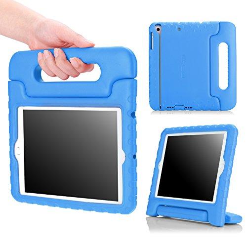 iPad Mini 3/2/1 Hülle - MoKo Superleicht EVA Kinder Ständer Schutzhülle Handgriff kinderfreundlich Handle Tasche Kickstand Case Etui für Apple iPad Mini3,Mini2 mit Retina/Mini 1,BLAU(Nicht für Mini 4) Ipad 2 3 4 Schaum Fall