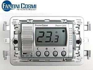 Fantini cosmi c50c termostato ambiente da incasso con for Istruzioni termostato fantini cosmi