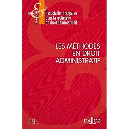 Les méthodes en droit administratif - Nouveauté