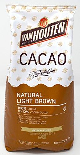 12% Kakaobutter (Van Houten - natürliches hellbraunes Kakaopulver (10-12% Kakaobutter) 1kg)
