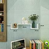 KXBYMX Schlafzimmer Schlafzimmer Schlafzimmer Schlafzimmer Wand Wandregal ist einfach Lagerregal (Farbe : Weiß)