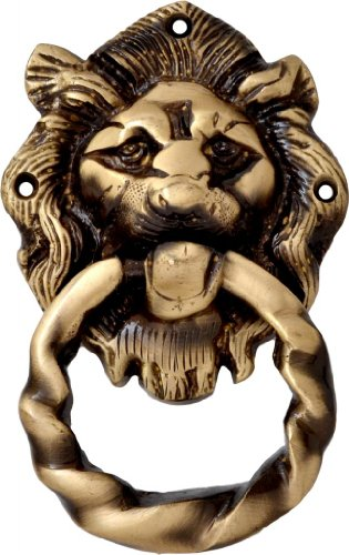 Two Moustaches Two Moustaches Brass Lion Mouth Door Knocker