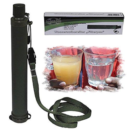 Filterpen Trinkwasser Wasseraufbereiter Filter Wasser Reiniger Trinken Trekking Outdoor Survival Army Bundeswehr Strohhalm Camping Überleben #15784