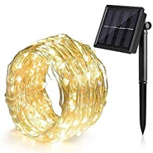 Ankway Solar String Lights 100 LED Fairy Lights 39ft Waterproof Decorative Light
