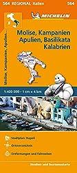 Michelin Molise, Kampanien, Apulien, Basilikata, Kalabrien: Straßen- und Tourismuskarte 1:400.000 (MICHELIN Regionalkarten)