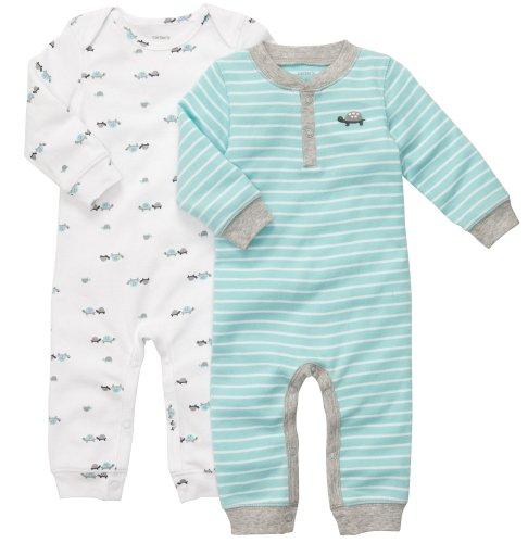 CARTER'S 2 Spieler Einteiler Baumwolle 56/62 Baby Junge Schlafanzug Kleidung boy 2 Teile US size 3 month (Baby Boy Carters)