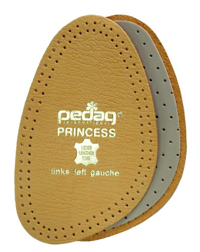 Pedag 101 Princess Cushioning Leather Half Forefoot Insole, Tan, Women's 9/10 by Pedag Womens Tan Leder