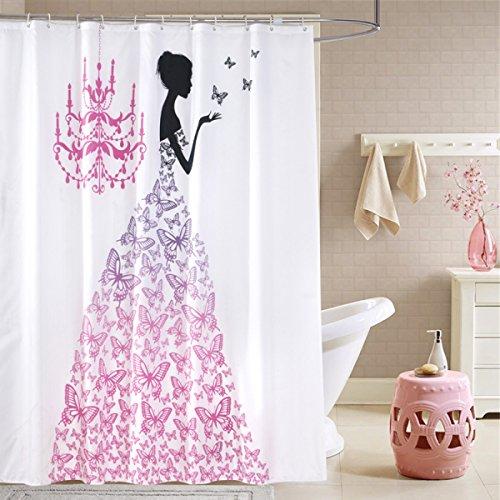 XYQX Badezimmer Duschvorhang Hotel Wasser Schimmel Qualitativ Hochwertiger Lun Warm Schwarze Vorhänge,70*78inch (Schwarzer Duschvorhang 78 In)