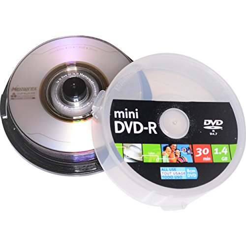 10 8cm Mini Blank DVD-R Discs with Duralayer Technology