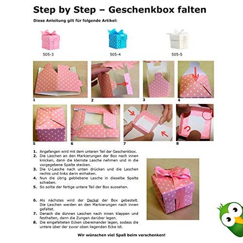 10 kleine Geschenkboxen, rosa