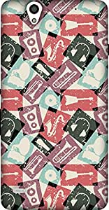 The Racoon Grip printed designer hard back mobile phone case cover for Sony Xperia C4. (Retro Musi)