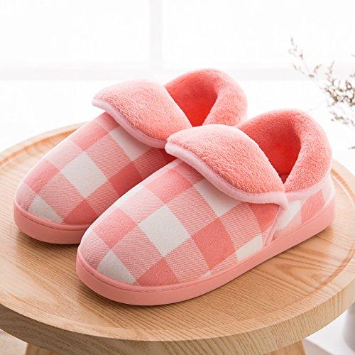 Pantoufles De Coton Fankou Paquet Complet Avec Hiver Chaud Épaississement Anti-dérapant Coton Chaussures Jeunes Pantoufles De Coton Intérieur Hellgelb