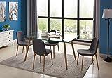 Essgruppe Glastisch und Esszimmerstühle 42 x 57.5 x 79 cm Esszimmertisch 130 x 80 x 75 cm (4 Stühle Set)