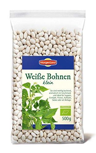 MorgenLand Bio Weiße Bohnen klein, 6er Pack (6 x 500 g)