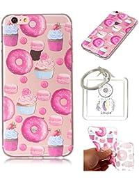 Hülle iPhone 6S (4,7 Zoll) Hülle, TPU Case Schutzhülle Silikon Case,Niedliche Cartoon Malerei Durchsichtige Rückschale und TPU Bumper Handy Tasche Case Cover Etui für iPhone 6S 4,7 Zoll (I)