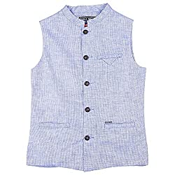 Gini & Jony Boys Regular Fit Jacket (121246517962 C610_Blue_10)