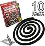 Packs of 10/20 - Sandalwood Essence Mosquito Repellent Coils With Metal Holder (Packs of 10)