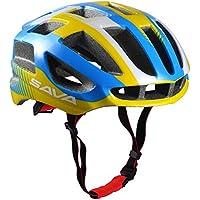 SAVA Carcasa Eco-Friendly Super Light Integralmente Ajustable Bici de Montaña del Casco de Ciclista Ultraligero Interior Acolchado Casco de Carretera (Amarillo)