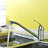Küchenarmatur verchromt 10 Jahre Garantie 360° Schwenkbereich Hochdruck Wasserhahn Küche aus Messing Spültisch-Einhebelmischer