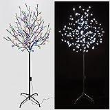 LED Baum Kirschblütenbaum 180cm 180LED 6Leuchtstufen Metall Sakura Lichterbaum