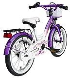 BIKESTAR® Premium Kinderfahrrad für sichere und sorgenfreie Spielfreude ab 4 Jahren ★ 16er Classic Edition ★ Candy Lila & Diamant Weiß -