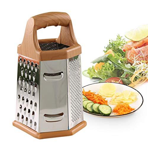 YAVO-EU Rallador 6 Caras Acero Inoxidable para Cortar Trituradoras Verduras y Frutas para la Cocina