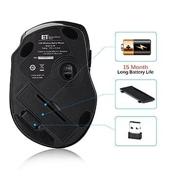 Victsing Mini Schnurlos Maus Wireless Mouse 2.4g 2400 Dpi 6 Tasten Optische Mäuse Mit Usb Nano Empfänger Für Pc Laptop Imac Macbook Microsoft Pro, Office Home 4