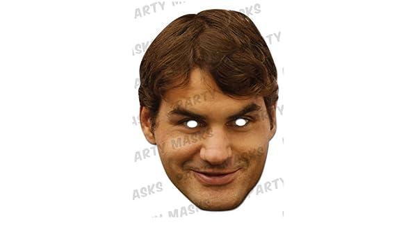 Roger Federer Celebrity 2D Card Party Face Mask Fancy Dress Up Tennis Champion