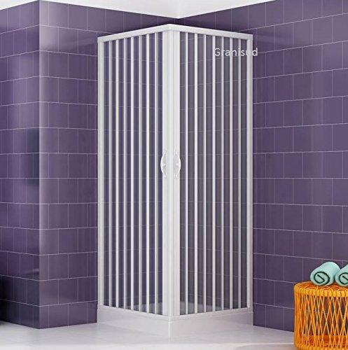 Cabine paroi de douche en Plastique PVC mod. Acquario 70x100 cm avec ouverture
