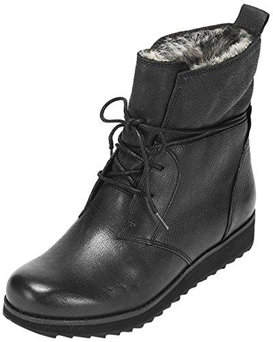 Clarks Minx Judy Damen Kurzschaft Stiefel Schwarz (Black Leather)
