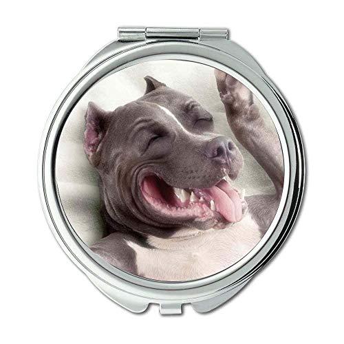Yanteng Spiegel, Kleiner Spiegel, Französische Bulldogge, Taschenspiegel, 1 X 2X Vergrößerung