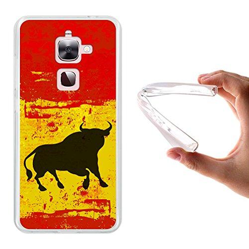 WoowCase LeTV LeEco Le 2   Le 2 Pro X620 Hülle, Handyhülle Silikon für [ LeTV LeEco Le 2   Le 2 Pro X620 ] Spanien Flagge und Stier Handytasche Handy Cover Case Schutzhülle Flexible TPU - Transparent