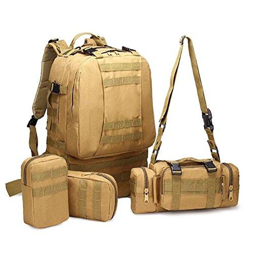 Rucksack 600D 55L Militär Multifunktionskombination Shopping Bewegung Limit Challenge Outdoor Rucksack desert camouflage