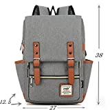 #028 Laptop Bag 15inch Casual Unisex Waterproof Oxford School Backpack Women&Men Rucksack (gray)