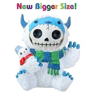 3.5inch Furry bones White and Blue Yeti Halloween Kostüm Figur by ytc
