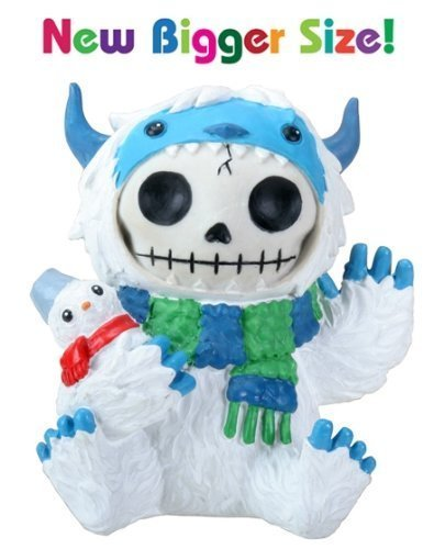 3.5 inch Furry bones White and Blue Yeti Halloween Kostüm Figur by ytc