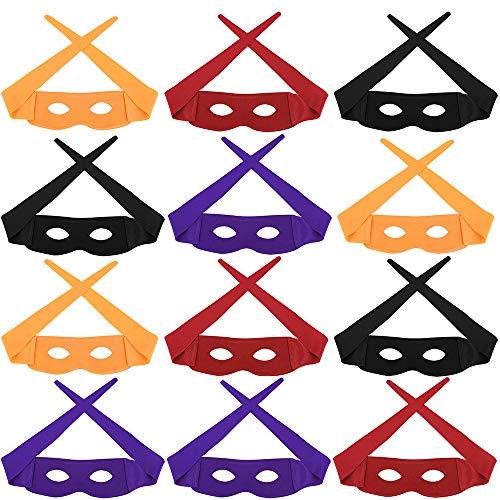 aspire 12 Stück Halloween Masken, Zorro Cosplay Party, Kostüme Party-Zubehör (Farbe Sortiert) (Zorro Kostüm Zubehör)