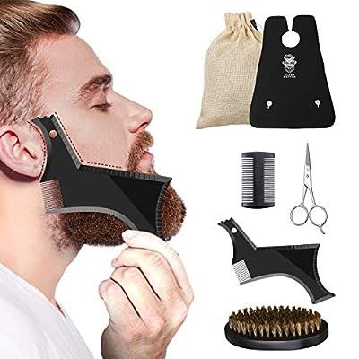 Bartpflege Set Bartbürste Wildschweinborsten