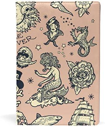 couvertures de livres Cool tatouages personnalisée de couverture de livre extensible jusqu'à 8,7 x 5.8in B07J1F3FT7 | Qualité Et Quantité Assurée