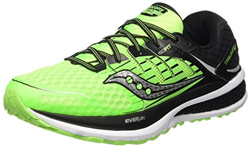 Saucony Triumph ISO 2, Scarpe Running Uomo, Verde (Slime/Black), 42.5 EU