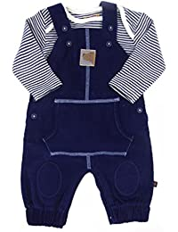 88b939f1ef239 BHS Baby Boys Dungaree Long Sleeve Vest Top Outfit Two Piece Set NB to 9-