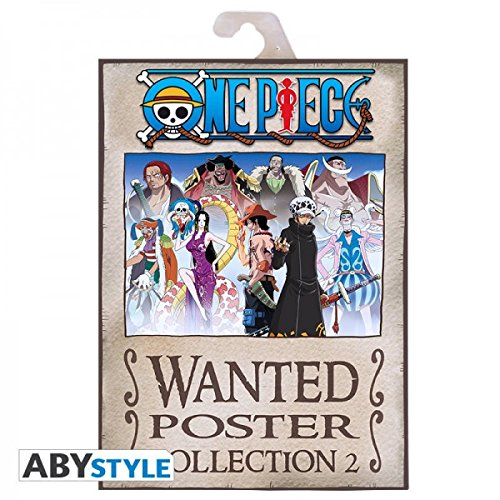 ABYstyle - ABYDCO311 - ONE PIECE - Portfolio - 9 Affiches - Wanted - Personnages#2 - 21 x 29,7 cm
