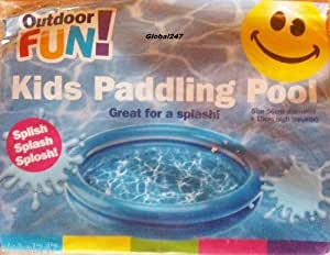 Baby Kids Paddling Pool 2 Ring Small 56cm Diameter Home Garden Holiday