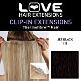 Love Hair Extensions Thermofibre Clip in Extensions Silky Straight