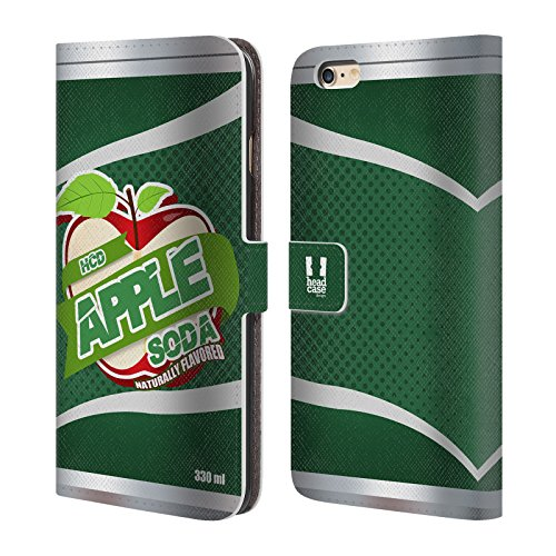 Head Case Designs Root Beer Blechdose Handy Hülle Brieftasche Handyhülle aus Leder für Apple iPhone 6 / 6s Hcd Apple Soda