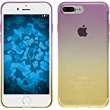 PhoneNatic Case für Apple iPhone 8 Plus Hülle Silikon Design:05 Ombrè Cover iPhone 8 Plus Tasche + 2 Schutzfolien