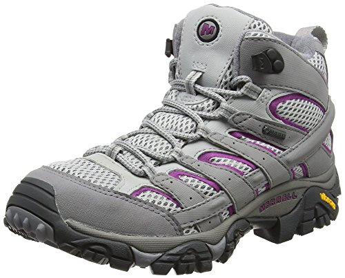 Merrell Damen Moab 2 Mid GTX Trekking-& Wanderstiefel, Grau (Frost Grey), 40.5 EU (Damen-lug-sohle-boot)