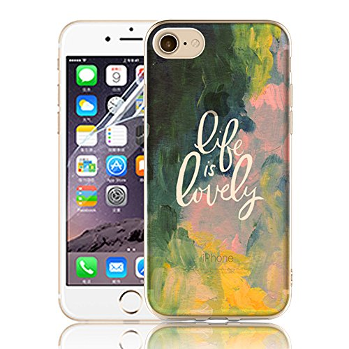Ultra Sottile Custodia per iPhone 7 Plus iPhone 7 Plus, Cover per iPhone 7 Plus, Sunroyal Creativa Wave Cover Morbido Flessibile TPU Silicone Gel Protettivo Skin Caso Custodia Protettiva Shell Case Co Model 20