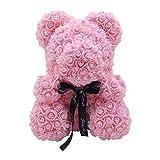 Orsacchiotto Rose Artificiale/Rose Bear, Per Anniversario, Matrimonio, Compleanno 9,84 5,90 Pollici